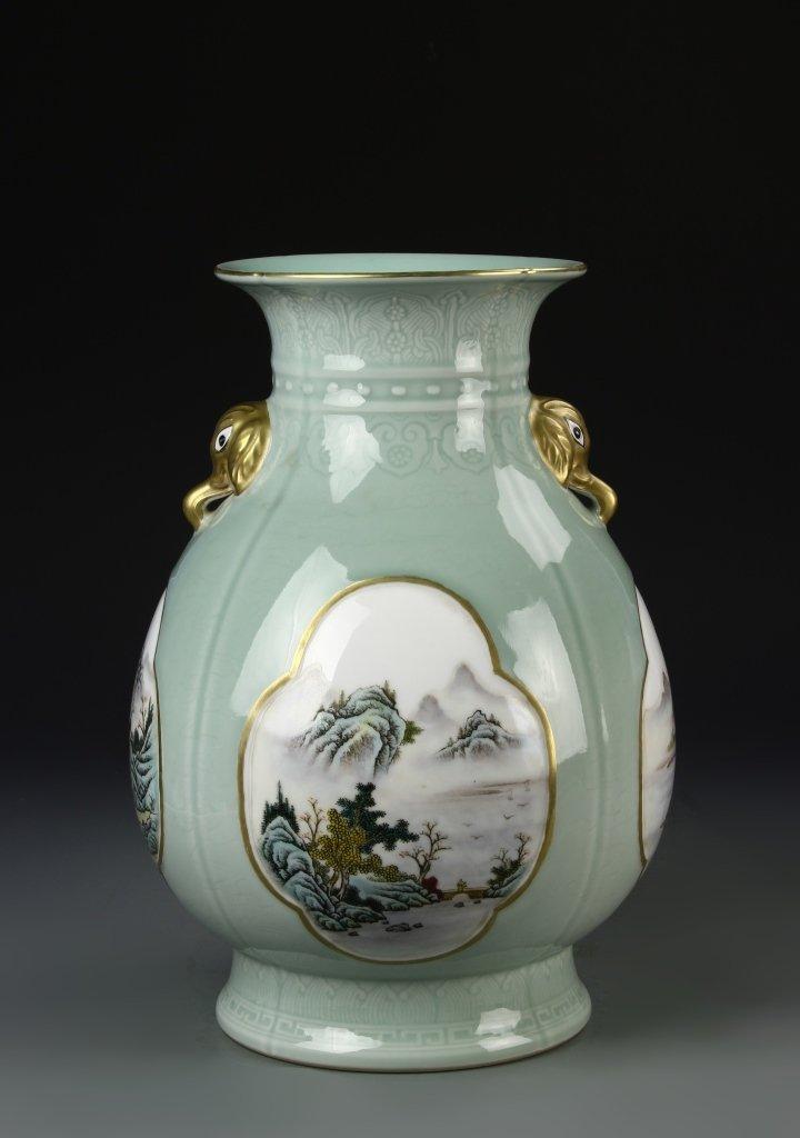 Chinese Famille Rose Vase - 4