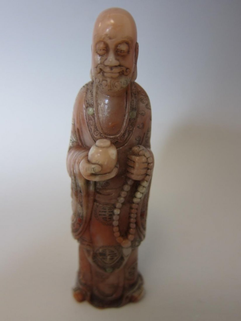 Chinese Soapstone Carving Of a Monk