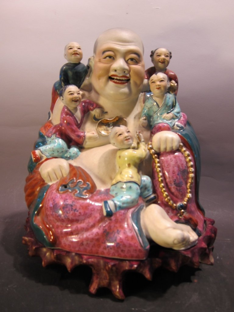 Chinese Famille Rose Happy Buddha