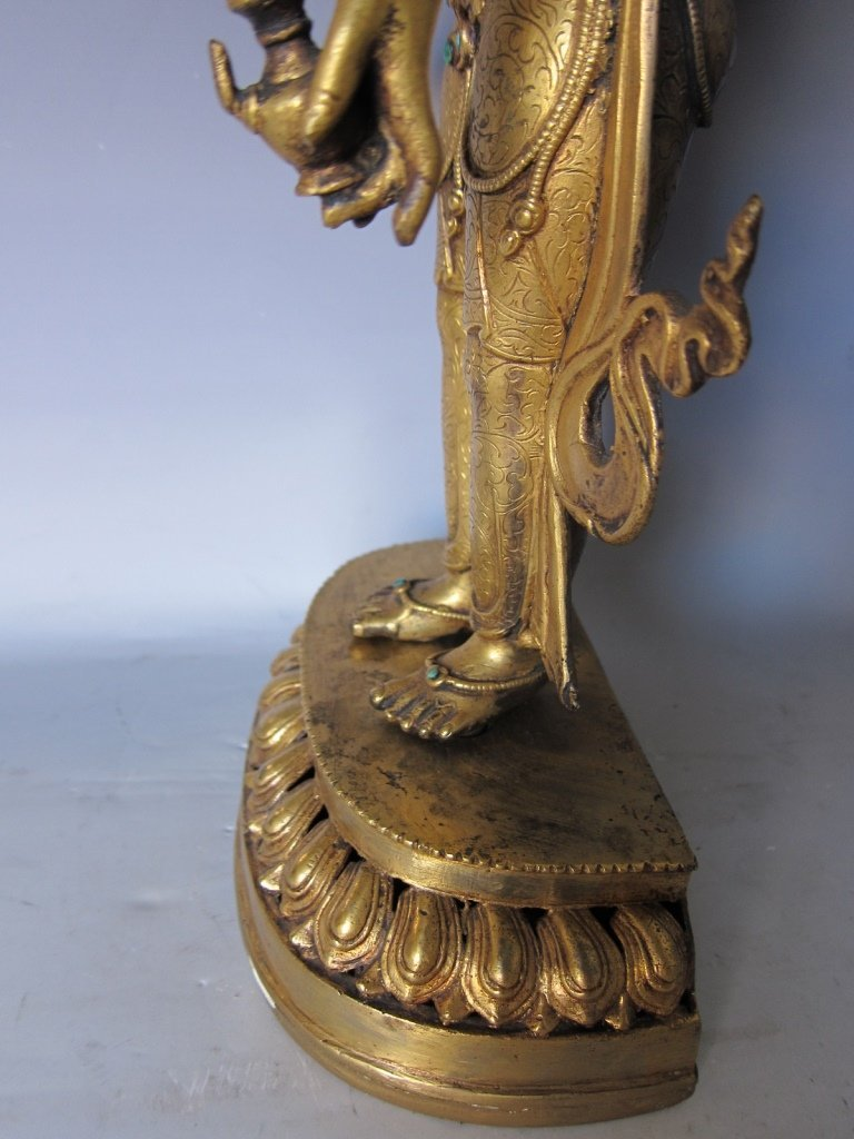 Chinese  Gilt Buddhist Statue - 10