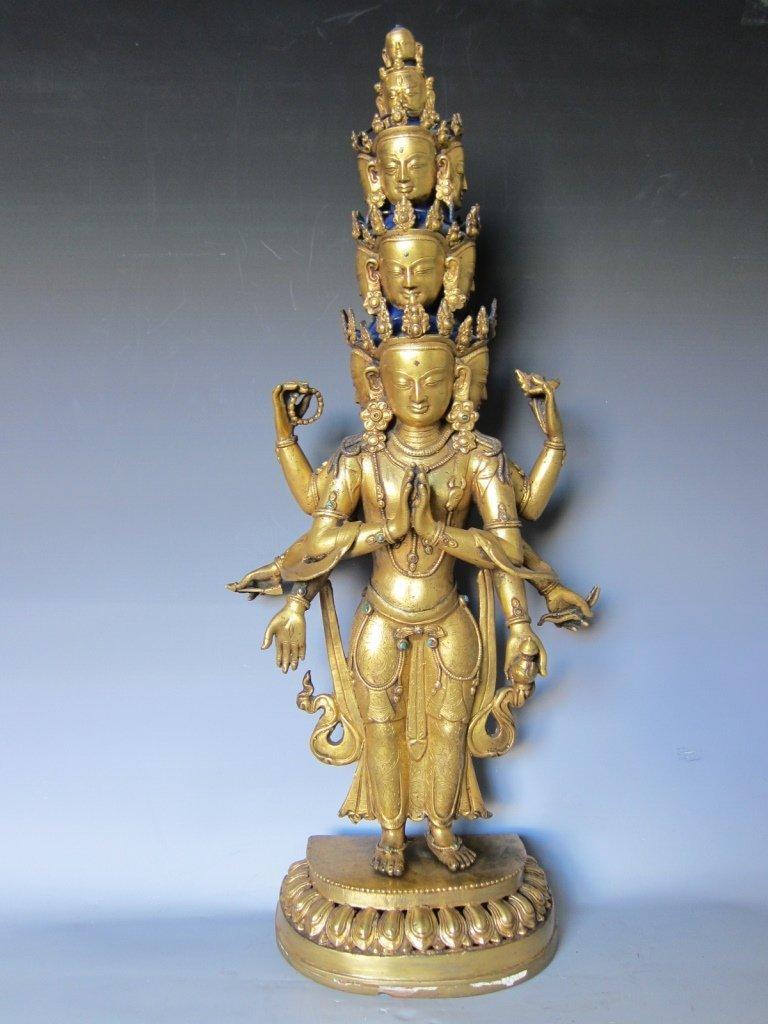 Chinese  Gilt Buddhist Statue