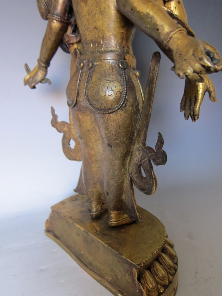 Chinese  Gilt Buddhist Statue - 2