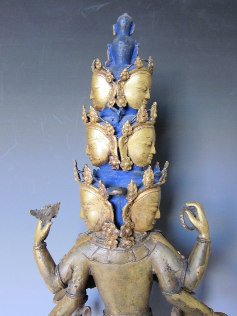 Chinese  Gilt Buddhist Statue - 4