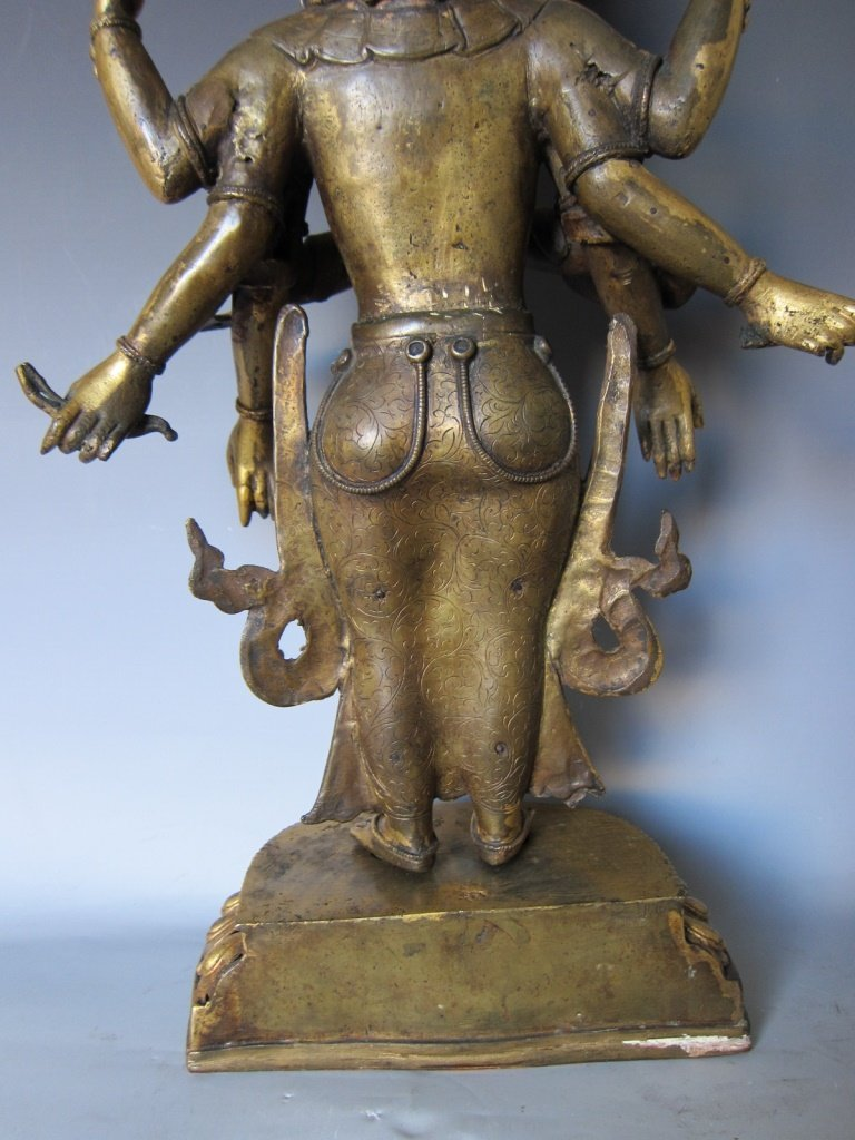Chinese  Gilt Buddhist Statue - 5