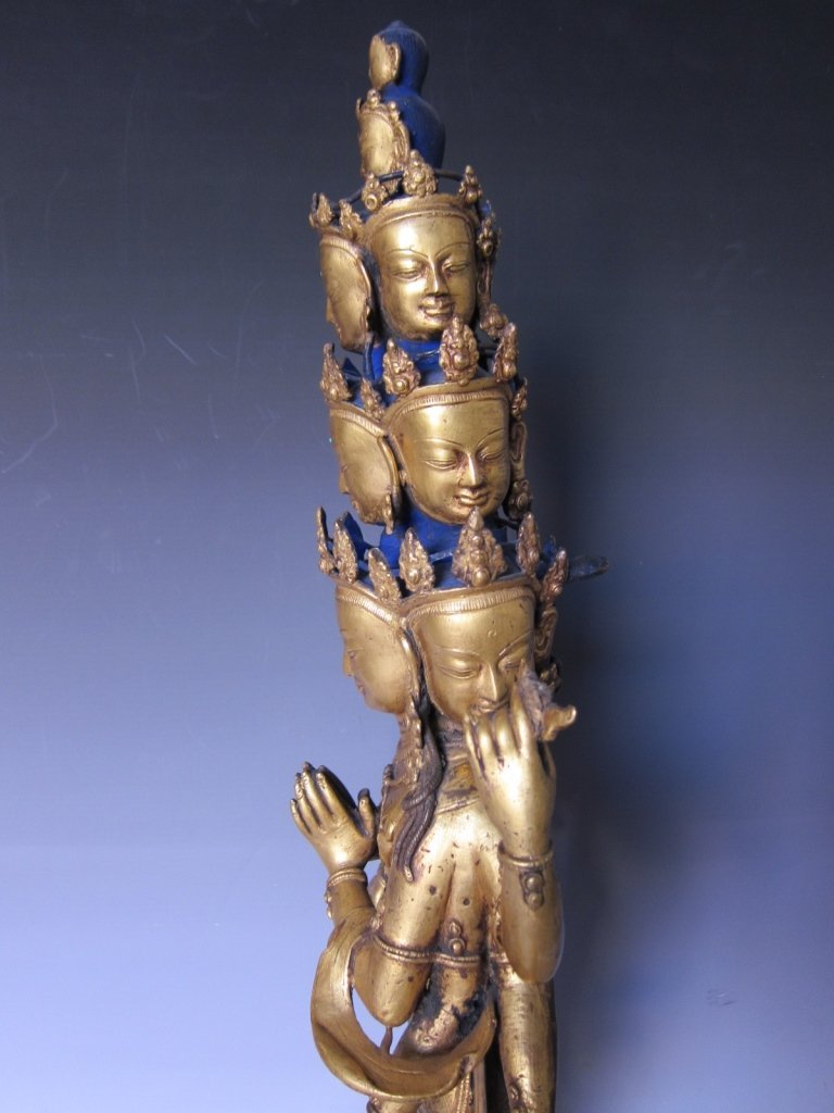Chinese  Gilt Buddhist Statue - 8