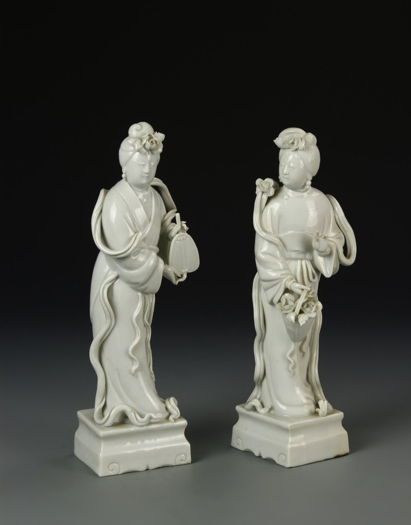 Two Chinese Blanc De Chine Figures