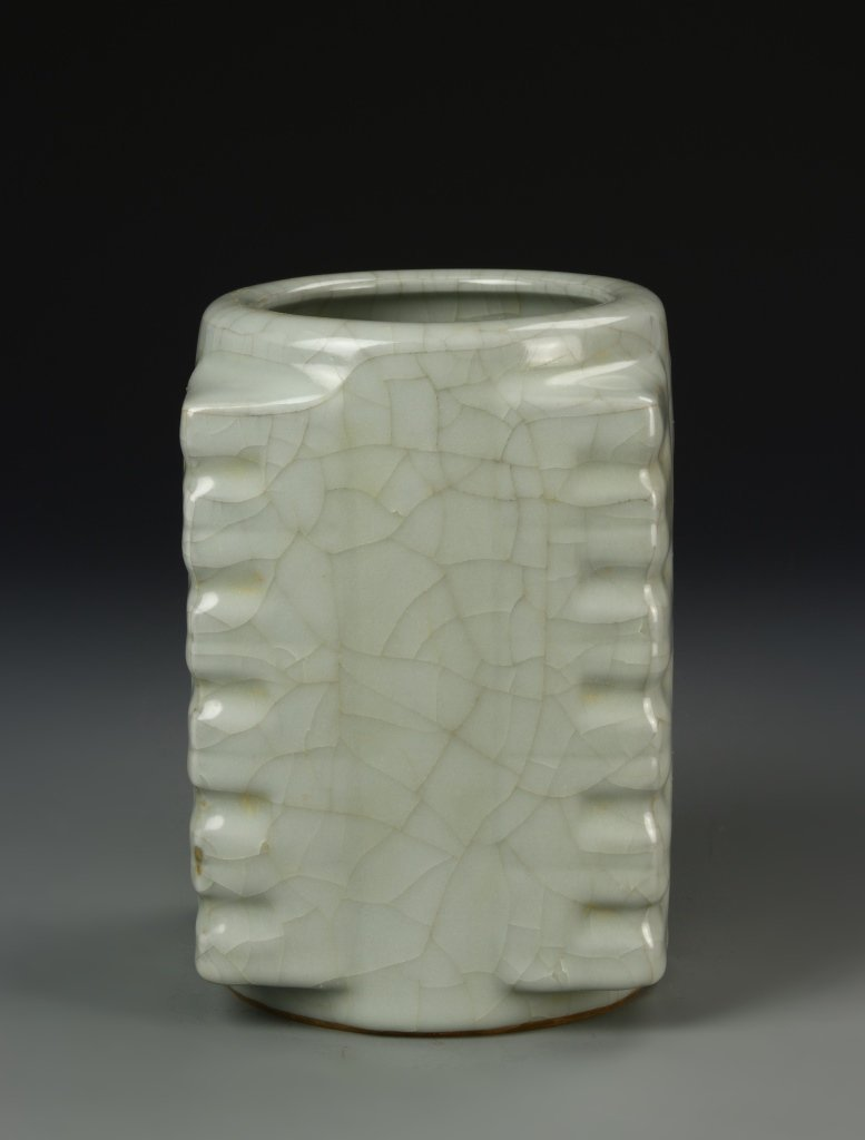 Chinese Celadon Square Cong Vase - 2