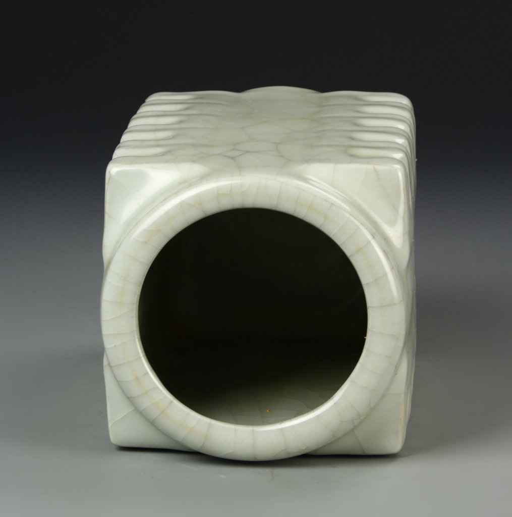 Chinese Celadon Square Cong Vase - 3