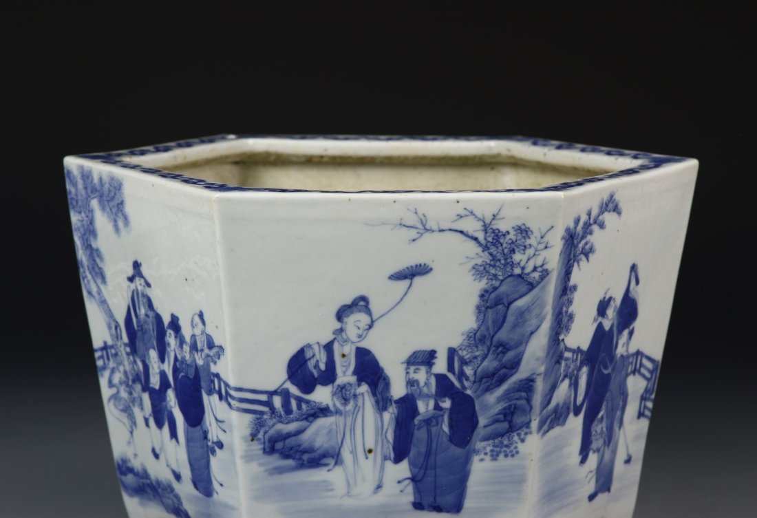 Chinese Blue and White Planter - 2