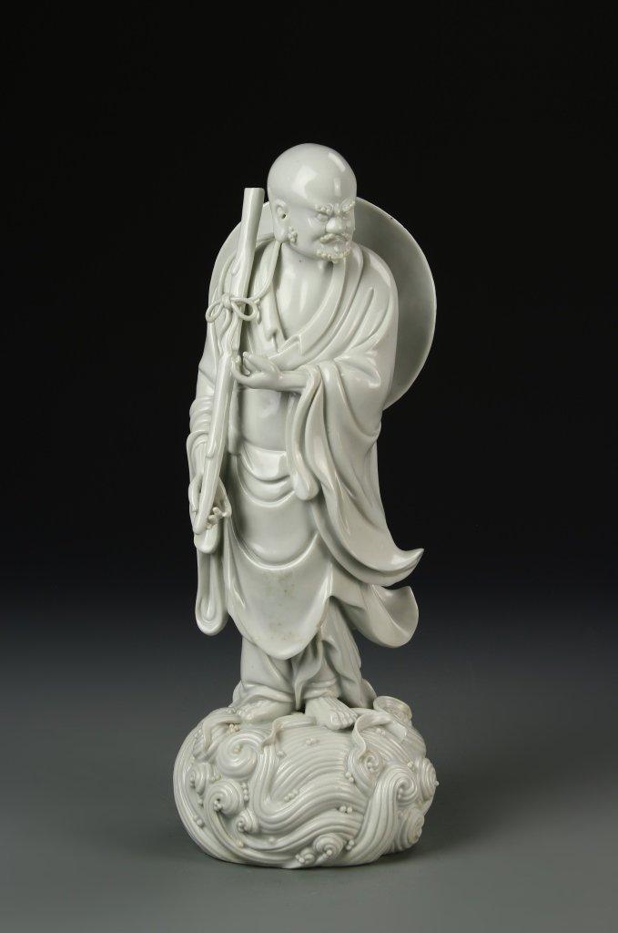 Chinese Blanc de Chine Darama Buddha