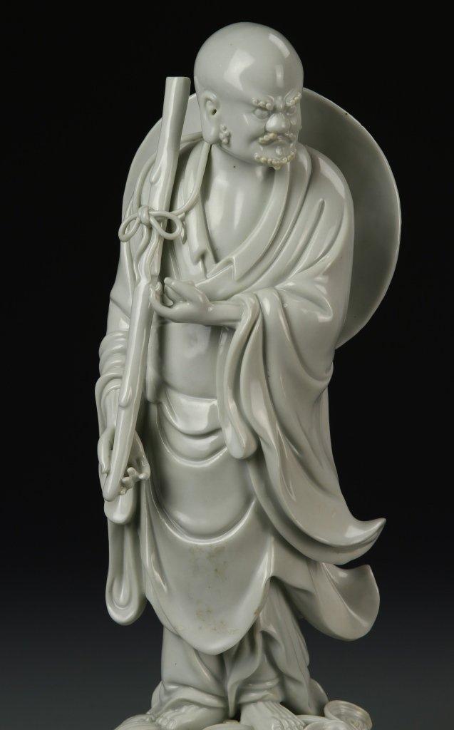 Chinese Blanc de Chine Darama Buddha - 2