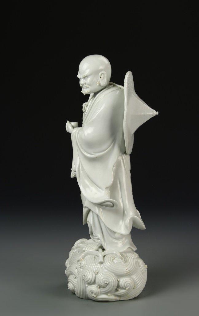 Chinese Blanc de Chine Darama Buddha - 3