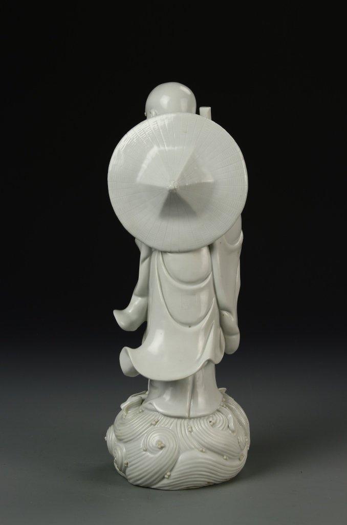 Chinese Blanc de Chine Darama Buddha - 4