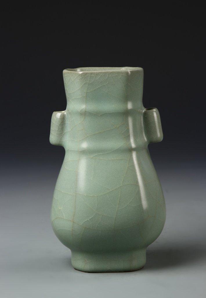 Chinese Longchuan Celadon Hu Vase - 3