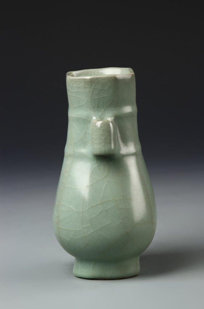 Chinese Longchuan Celadon Hu Vase - 4