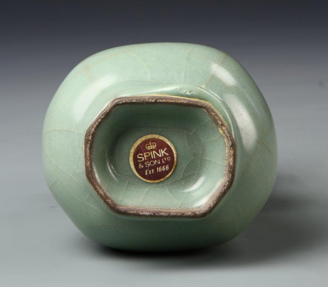 Chinese Longchuan Celadon Hu Vase - 6