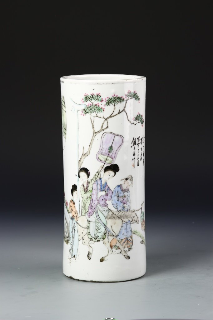 Chinese Famille Rose Hat Stand