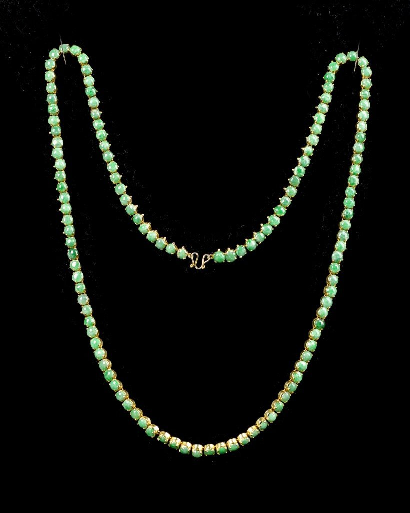 Chinese Jadeite Beads Necklace - 2