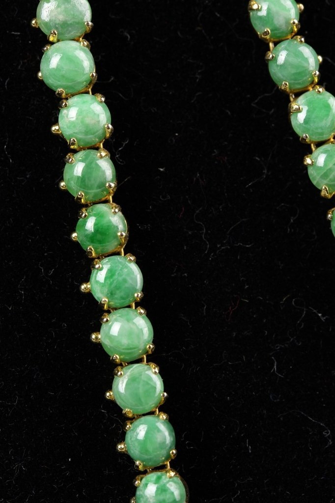 Chinese Jadeite Beads Necklace - 3