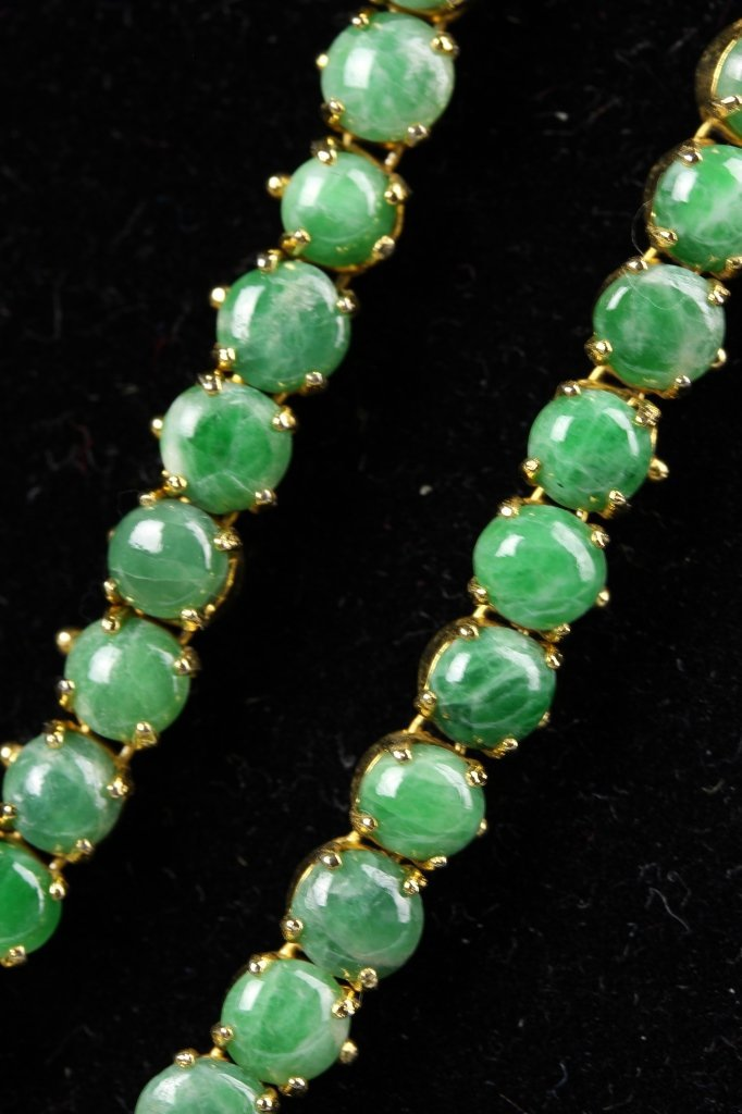 Chinese Jadeite Beads Necklace - 4