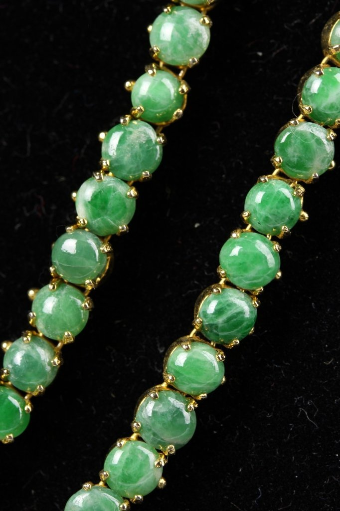 Chinese Jadeite Beads Necklace - 5