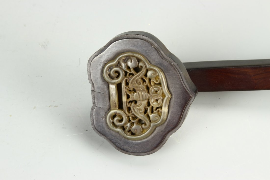Chinese Wood Ruyi Scepter - 3