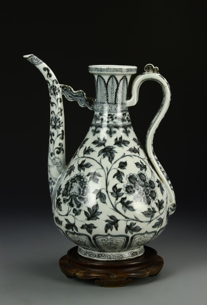 Important Ming Blue And White Ewer