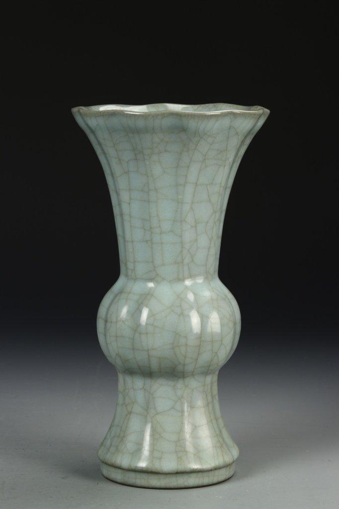 """Longchuan K'uan-type """"Gu"""" Shaped Vase - 3"""