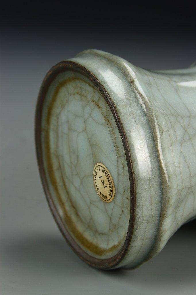 """Longchuan K'uan-type """"Gu"""" Shaped Vase - 8"""