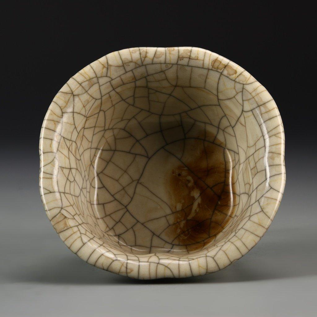 Chinese Crackle Glaze Lobed Planter - 3