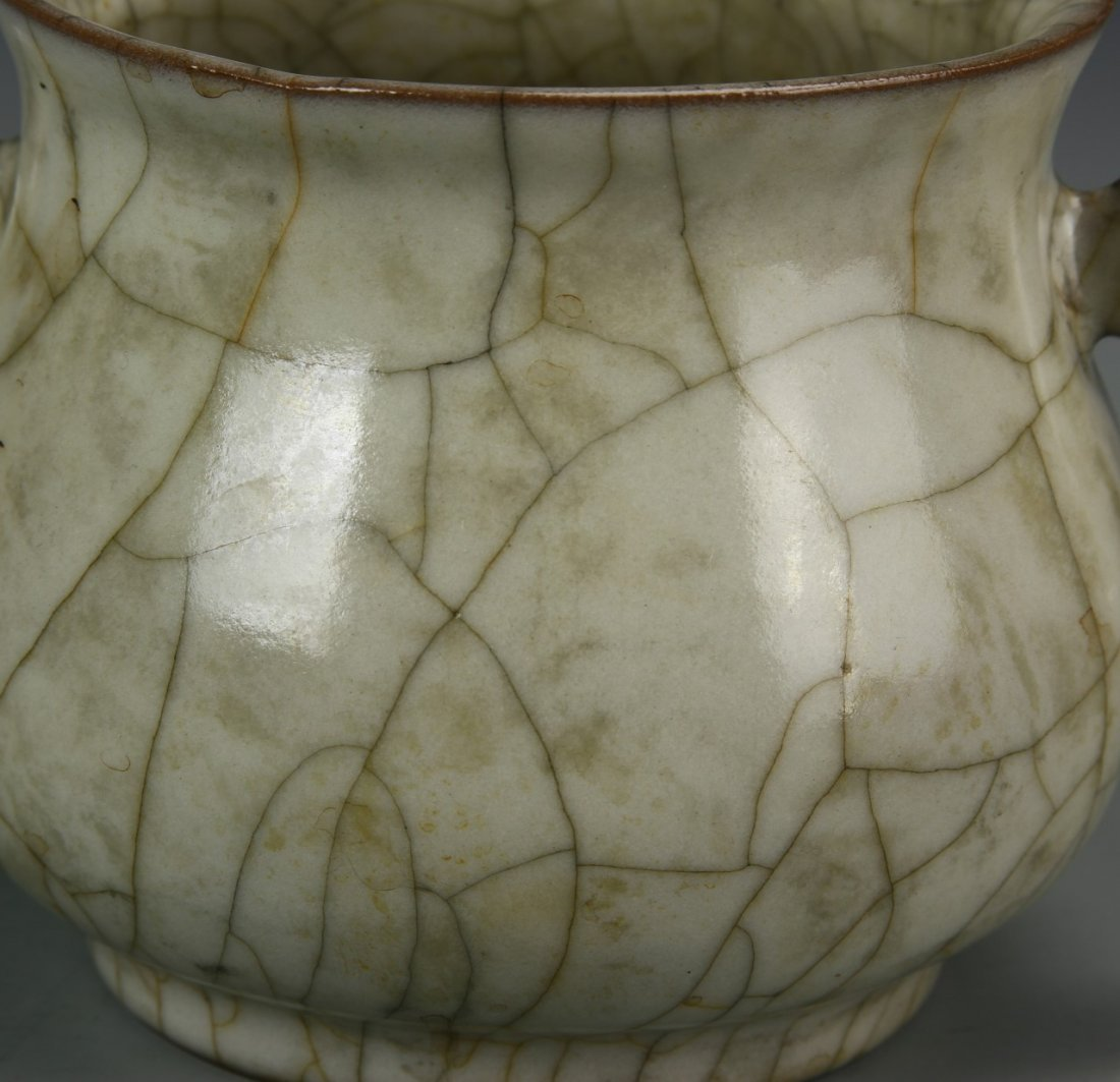 Chinese Crackle Glazed Censer - 8