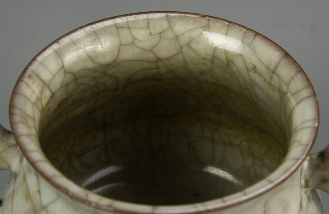 Chinese Crackle Glazed Censer - 9