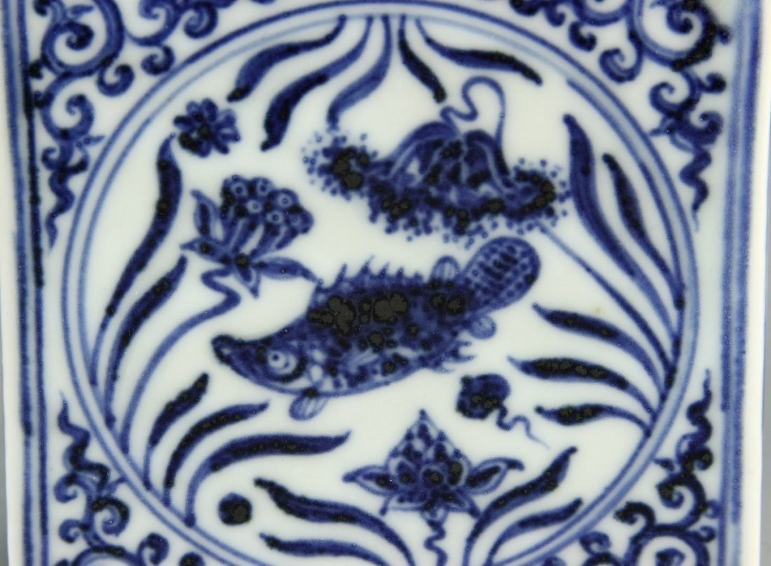Chinese Blue And White Ink Bed - 7