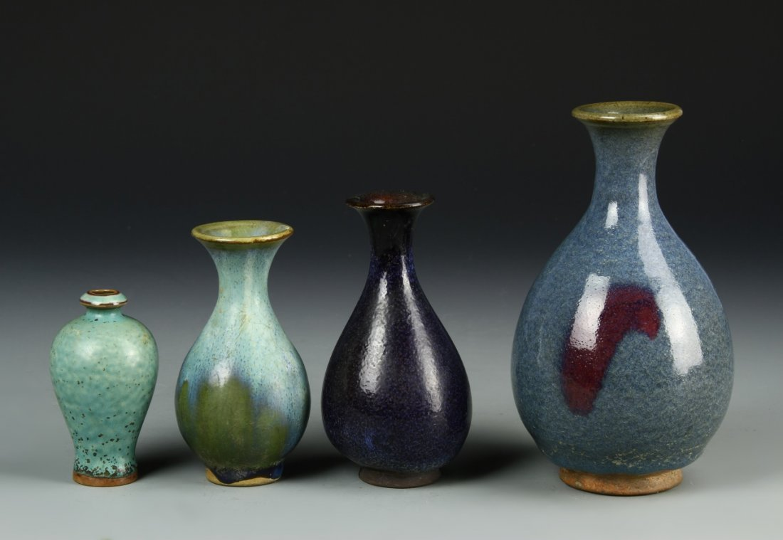 Four Chinese Meiping Vases