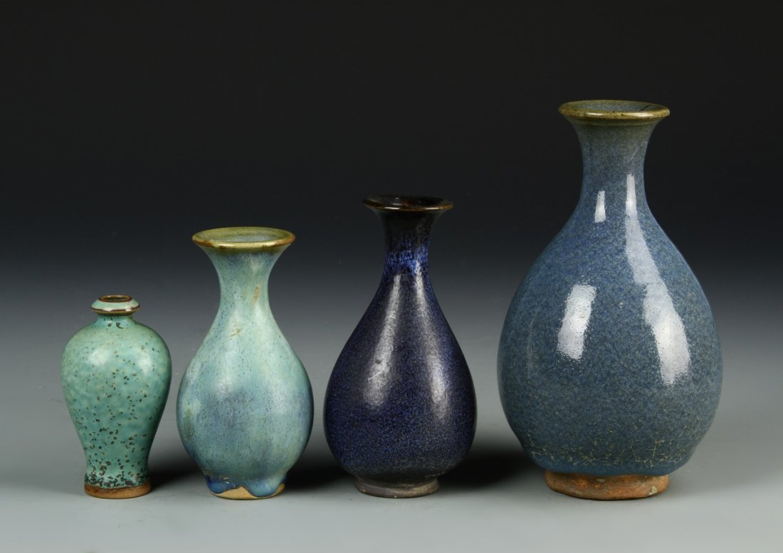 Four Chinese Meiping Vases - 2