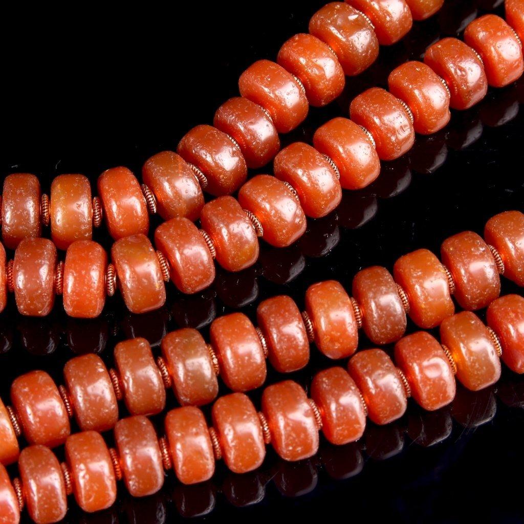 Chinese Tibetan Agate Prayer Beads - 2