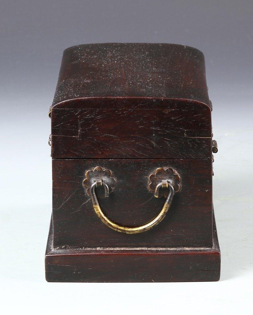 Chinese Zitan Wood Scholars Box - 2