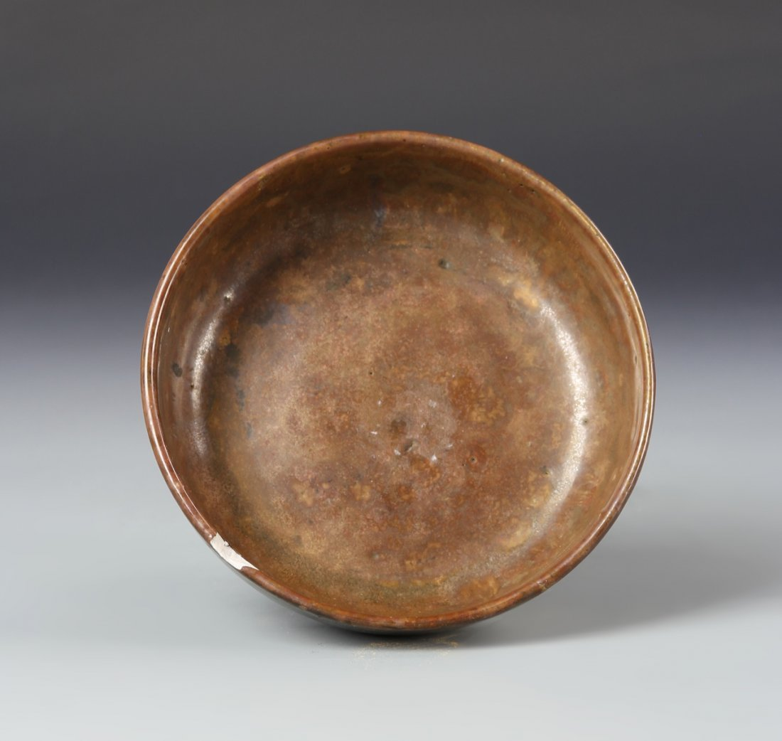 Chinese Brown Glazed High Stem Bowl - 3