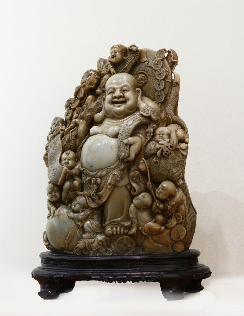 Chinese Stone Happy Buddha