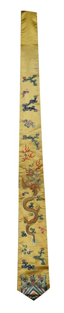 Chinese Silk Embroidery Dragon Panel