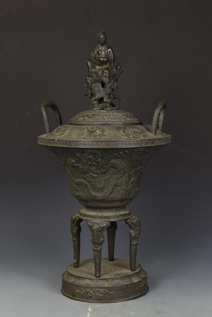 Japanese Bronze Damara Finial Censer