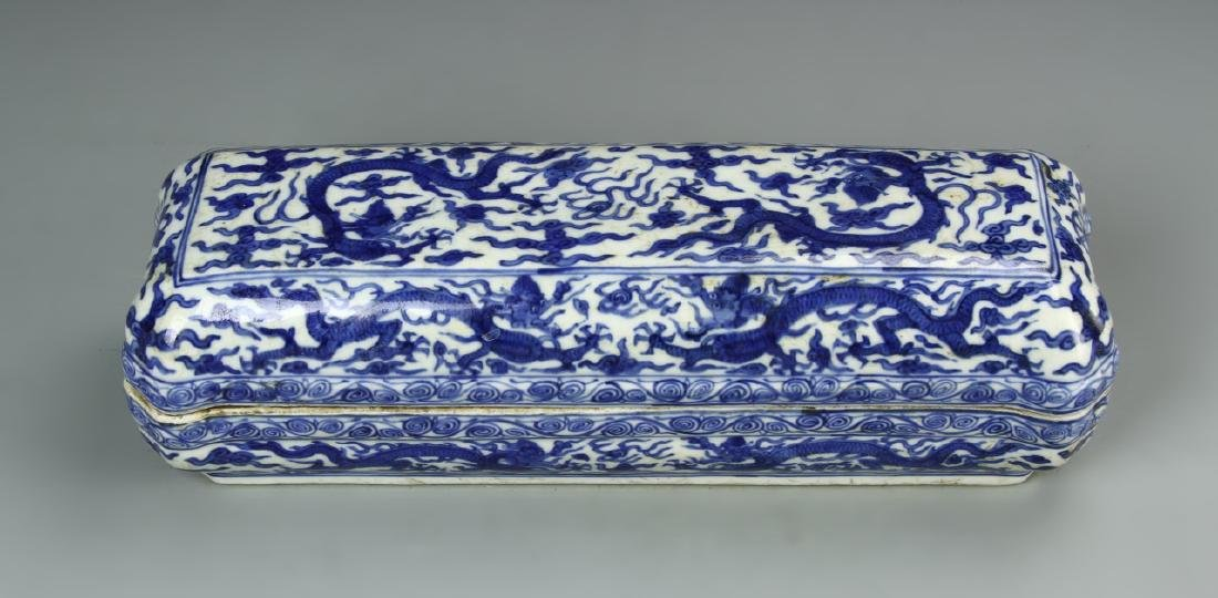 Chinese Blue and White Scholar Box