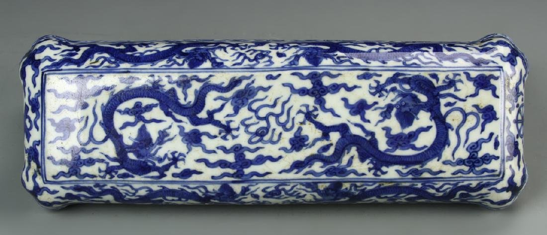 Chinese Blue and White Scholar Box - 2