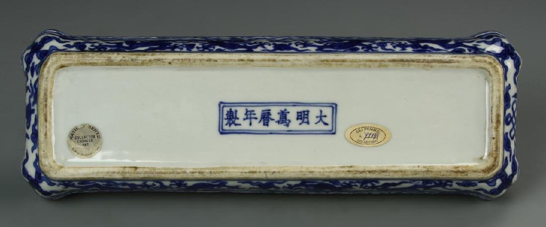 Chinese Blue and White Scholar Box - 4
