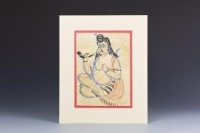Indian Shiva Kalaghat Painting