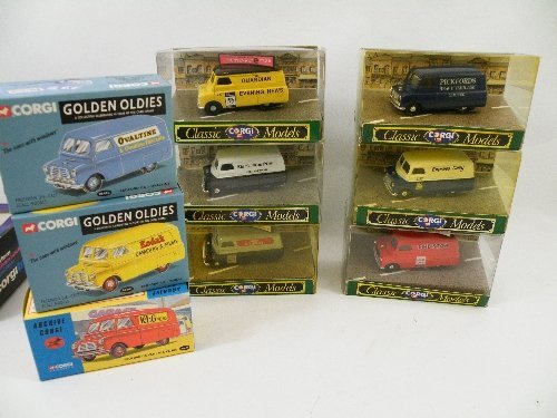 6: A collection of 7 Corgi classic model Bedford CA Van