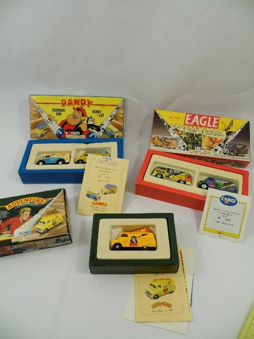 7: 3 Corgi comic classics boxed die cast toys, Eagle wi
