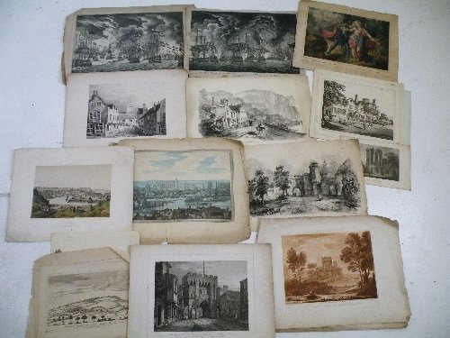 10: A quantity of unframed prints and plates, including