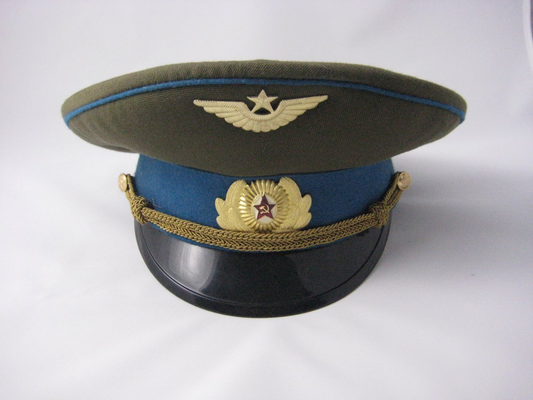 17: Soviet Russian Army Officer Dress Peaked Cap