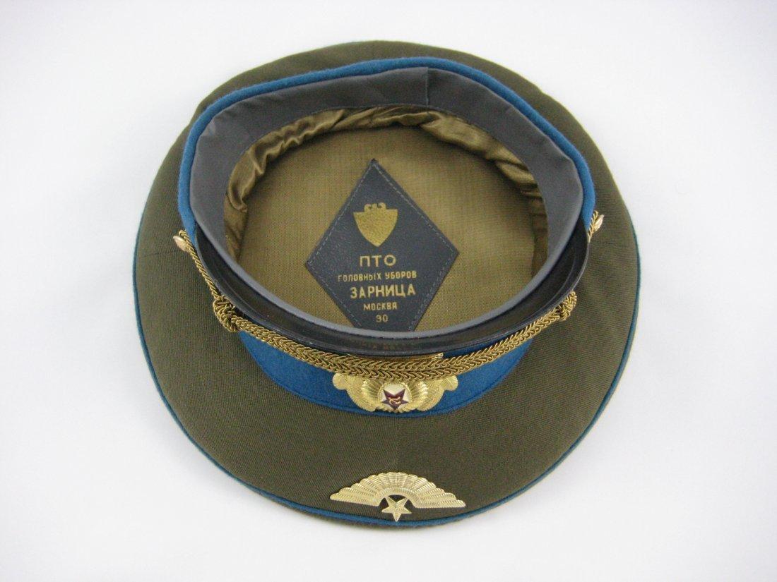 17: Soviet Russian Army Officer Dress Peaked Cap - 3